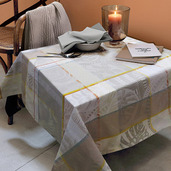 "Mille Tropiques Coco Tablecloth 61""x61"", 100% Cotton"