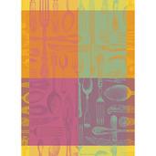 """Couverts Et Couleurs Orange Kitchen Towel 22""""x30"""", 100% Cotton"""