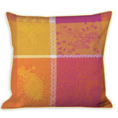 "Mille Holi Epices 16""x16"" Cushion Cover, 100% Cotton - Set of 2"