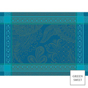 """Isaphire Emeraude Placemat 20""""x16"""", Green Sweet"""