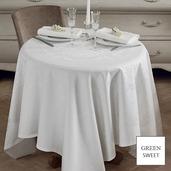 "Comtesse Blanc Blanc Tablecloth Round 69"", Green Sweet"