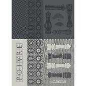 """Poivrieres Noir 22""""x30"""" Kitchen Towel, 100% Cotton"""