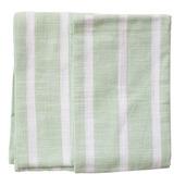Dobby Stripes Sage Kitchen Towels - SET of 2ea