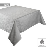 """Mille Gibraltar Opale Tablecloth 59""""x87"""", Coated Cotton"""