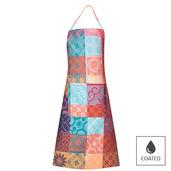 """Mille Tiles Multicolore Apron 30""""x33"""", Coated Cotton"""