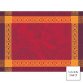 """Isaphire Red Placemat 21""""x15"""" GS Stain-Resistant Cotton - 4ea"""