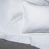 Bordeaux White 320TC Twin Sheet Set