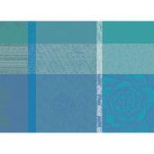 """Mille Gardenias Lagon 16""""x20"""" Placemat, 100% Cotton - Set of 4"""
