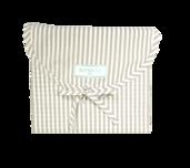 Stripes Greige Queen Duvet Set 200 thread count, 100% Cotton.