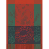 Christmas Forest Tor Red Kitchen Towel, Cotton