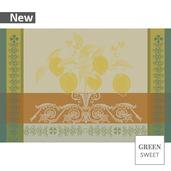 Citrons Set Ocre Placemat, Stain Resistant-4ea