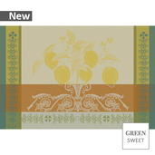 "Citrons Ocre Placemat 19""x13"", Green Sweet"