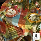 """Mille Couleurs Paris Tablecloth 69""""x98"""", Coated Cotton"""