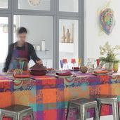 "Mille Tornades Pop Tablecloth 35""x35"", Cotton"