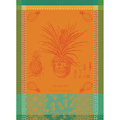 "Ananas en Pot Jaune Soleil 22""x30"" Kitchen Towel, 100% Cotton"