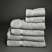 Essential Grey 6 pieces Bath Set, 100% Cotton.