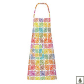"Mille Paons Festival 28""x33"" Apron, Coated Cotton"