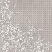 Persephone Etain Napkin, Linen Polyester-4ea