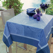 "Sunshine Blue Tablecloth 45""x45"", Cotton"