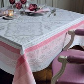 "Mathilde Rose Tablecloth, 68"" x 68"", GS Stain Resistant"