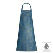"""Mille Feuilles Mini Bleu Dore Apron 30""""x33"""", Coated Cotton"""