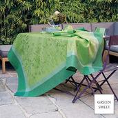 """Champ De Ble Verdure Tablecloth 69""""X69"""", GS Stain Resistant"""