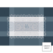"""Bagatelle Flanelle Placemat 20""""x15 '', Green Sweet"""