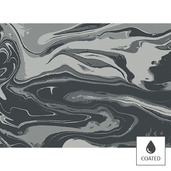 Mille Marble Black Placemat, Coated-4ea