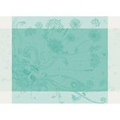 "Souffle Turquoise Placemat 22""x16"", GS Stain Resistant"
