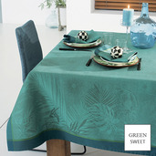 "Borneo Topaze Tablecloth 61""x61"", GS Stain Resistant"