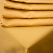 Plain Satin Cottonrich Gold Tablecloth Square 90x90