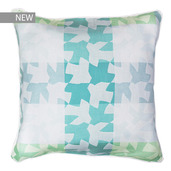 "Mille Hirondelles Menthol Cushion cover 16""x16"", 100% Cotton"