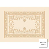 """Eleonore Dore Placemat 21""""x15"""", Green Sweet"""