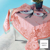 """Corail Rose Tablecloth 61""""X61"""", GS Stain Resistant"""
