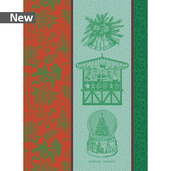 Souvenirs De Noel Rouge Et Vert Kitchen Towel, Cotton