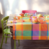 "Mille Wax Creole Tablecloth 45""x45"", 100% Cotton"