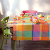 """Mille Wax Creole Tablecloth 45""""x45"""", cotton"""