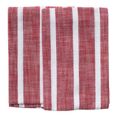 Dobby Stripes Red Kitchen Towels - SET of 2ea