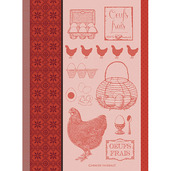 L Oeuf Et La Poule Rouge Kitchen Towel, Cotton