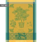 """Mimosa Yellow Kitchen Towel 22""""x30"""", 100% Cotton"""