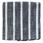 Dobby Stripes Black Kitchen Towels - SET of 2ea