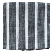Black Dobby Stripe 2pcs Kitchen Towel Set