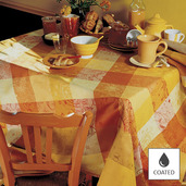 """Mille Couleurs Soleil Tablecloth Round 69"""", Coated Cotton"""