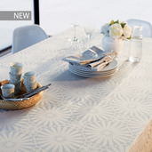 "Mille Riads Alouette Tablecloth 61""x61"", 100% Polyester"