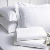 Georgetown White 300TC Queen Pillow Cases /2ea, Cottonrich