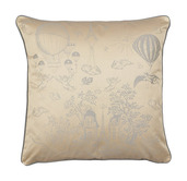 "Voyage Extraordinaire Or Pale Cushion Cover 20""x20"", Cotton-2ea"
