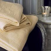 """Bed Cover Cocoon Ecru 89x65"""", Cotton"""