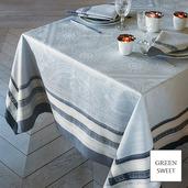 """Tablecloth Rectangle Galerie Des Glaces Argent 68""""x162"""", GS Stain Resistant - 1ea"""