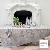 """Veneziano Sfumato Tablecloth 69""""x143"""", Stain Resistant"""