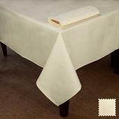 "Partridge Eye OA Ivory Tablecloth 63""x63"", Cotton"